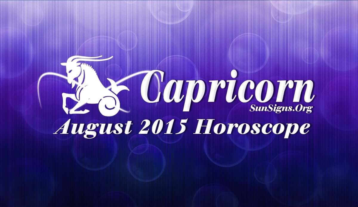 Capricorn August 2015 Horoscope predictions indicate that career and personal ambitions will be important over domestic issues this month