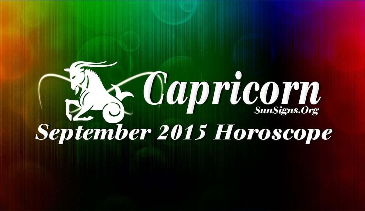 September 2015 Capricorn Monthly Horoscope | SunSigns Org