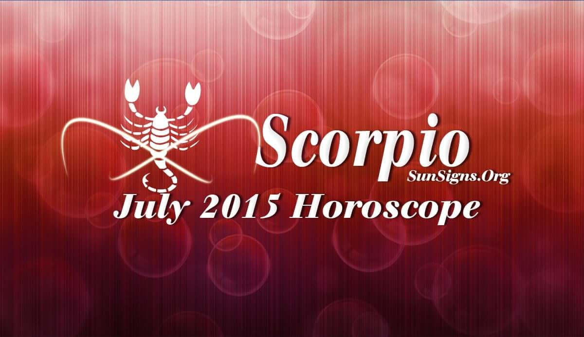The Scorpio July 2015 Horoscope foretells that you have to be dependent both on independence and social skills this month