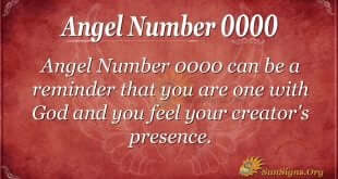 Angel Number 0000