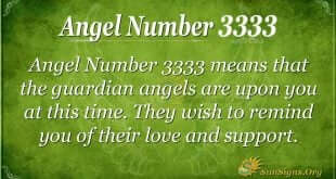 Angel Number 3333