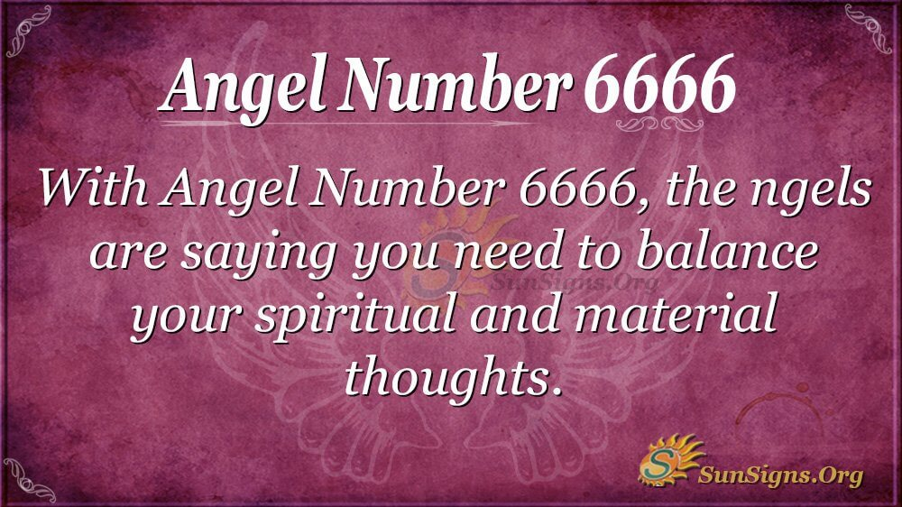 Angel Number 6666