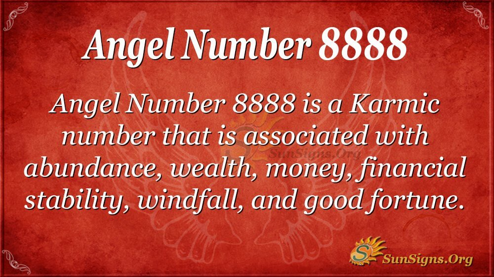 Angel Number 8888 Meaning - The Real Truth! | SunSigns Org