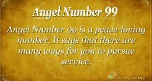 Angel Number 99