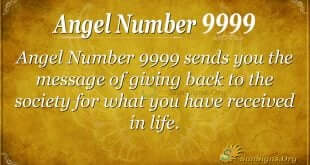 Angel Number 9999