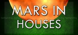 planet Mars symbolizes in the 12 houses