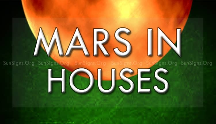 planet Mars in the 12 houses
