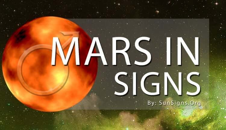 mars in signs stands for passion and temper