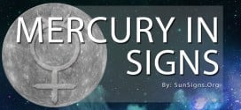 mercury in signs