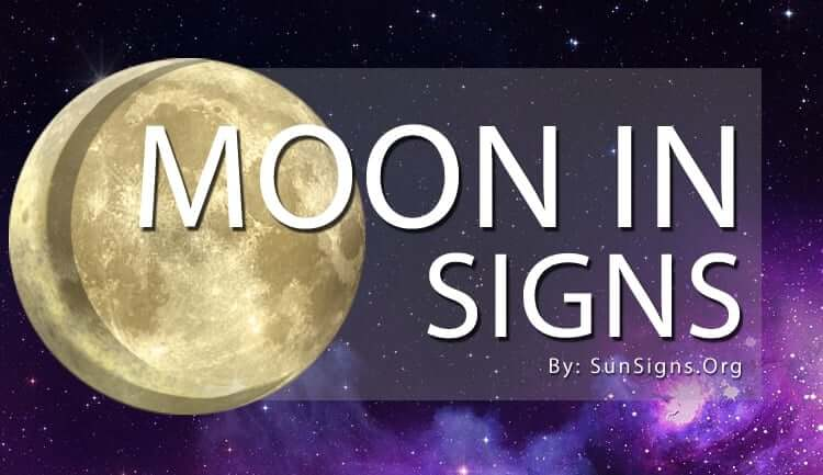 moon in signs placement in our horoscope