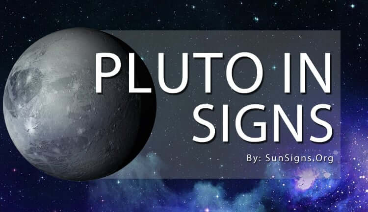 pluto in signs signfies power