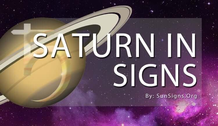 the saturn in signs