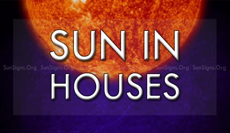 sun in houses shows our desires