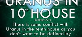 There is some conflict with Uranus in the tenth house, because the tenth house is usually very career-oriented. But Uranus doesn't want you to be defined by your job alone. Your independent nature wants to go out and try something unique, so you often have trouble staying in one job