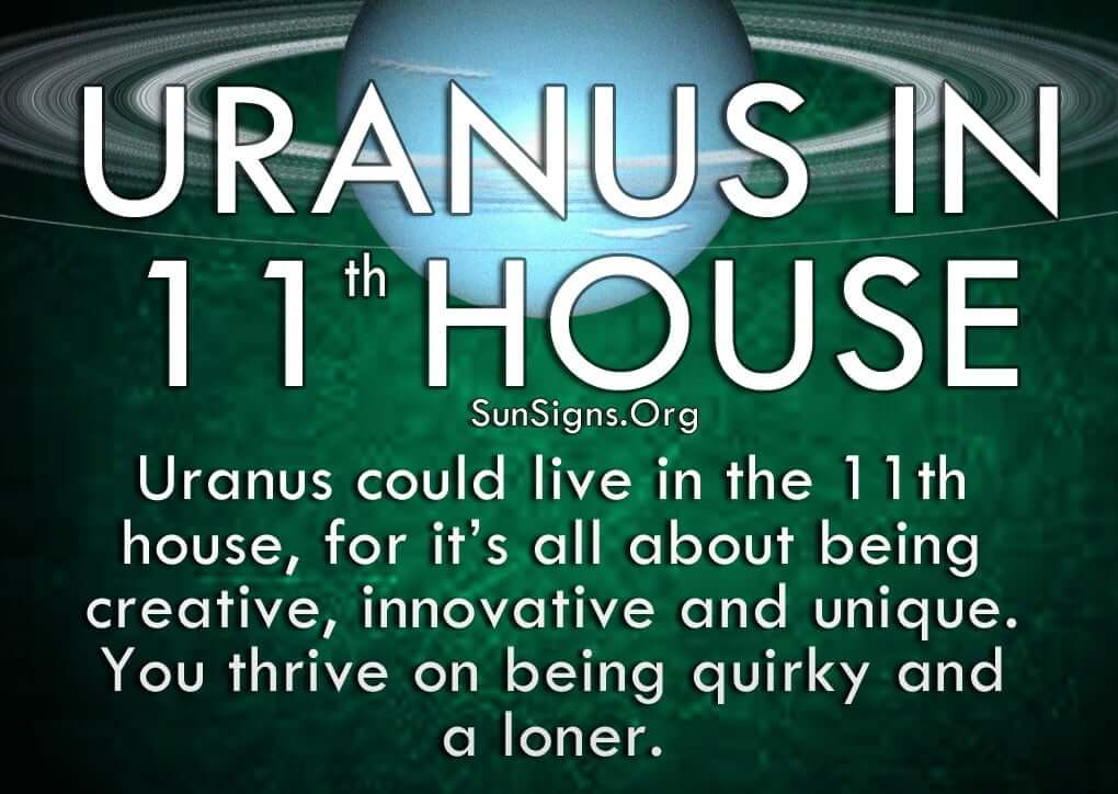 Deep down with Uranus in the 11th house, you are a fun and witty person