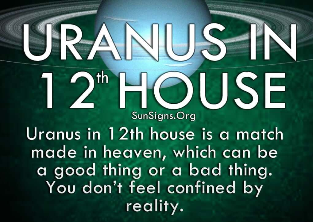 With Uranus in 12th house, you work behind the scenes to do things for others