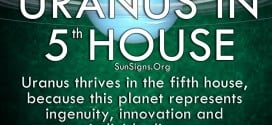 Uranus thrives in the fifth house, because the planet represents ingenuity, invention and individuality
