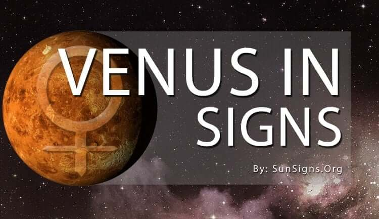 the venus in signs