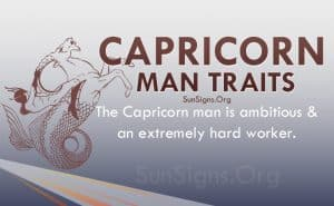 capricorn man traits