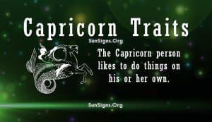 capricorn personality Traits