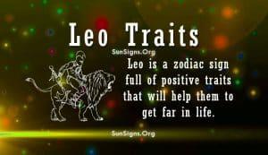 leo personality Traits