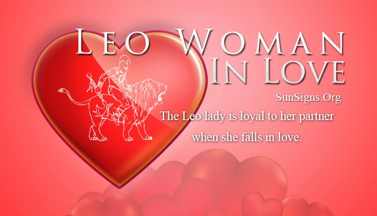 leo woman in love