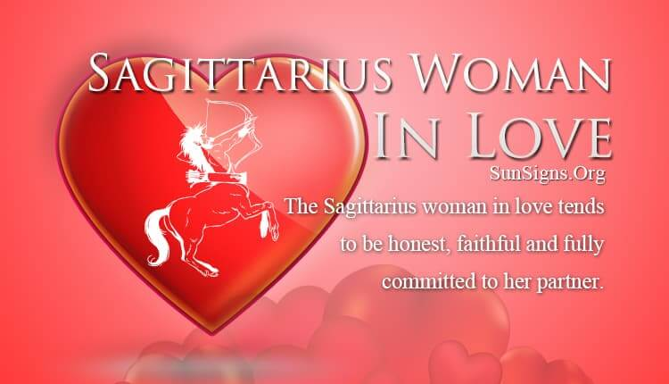 sagittarius woman in love