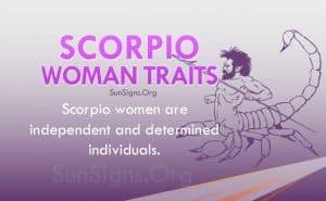 scorpio woman traits