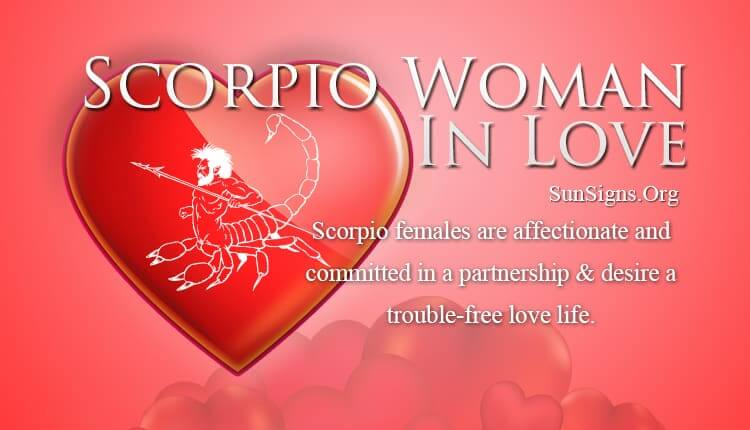 scorpio woman in love