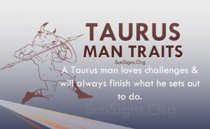 taurus man traits