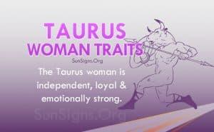 taurus woman traits