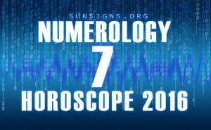 7 numerology horoscope 2016