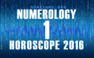 1 numerology horoscope 2016