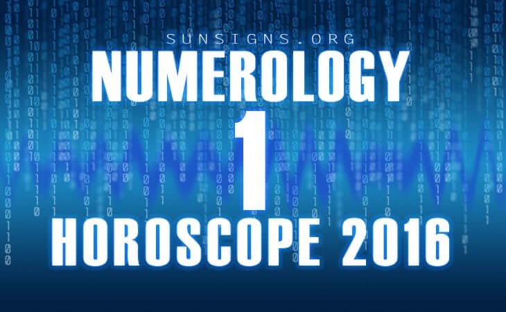1 numerology horoscope 2016