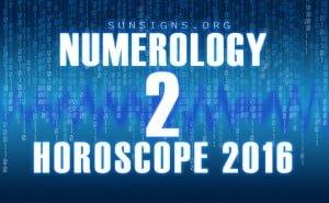 2 numerology horoscope 2016