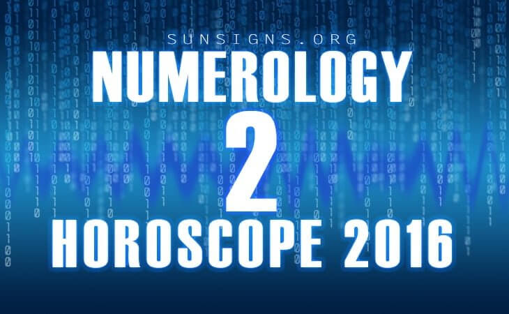 2 numerology horoscope 2016