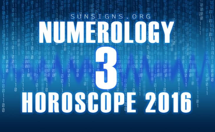 3 numerology horoscope 2016