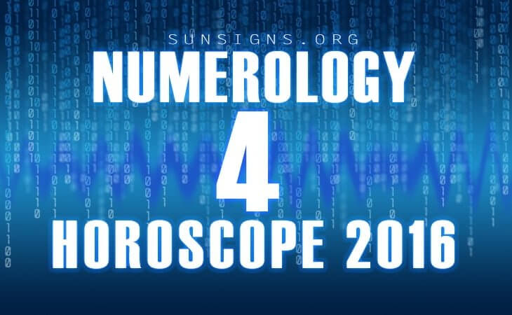 4 numerology horoscope 2016