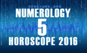 5 numerology horoscope 2016