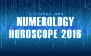 numerology horoscope 2016