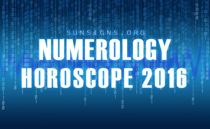 NUMEROLOGICAL HOROSCOPE 2016