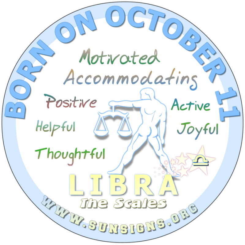 October 11 Birthday Horoscope Personality