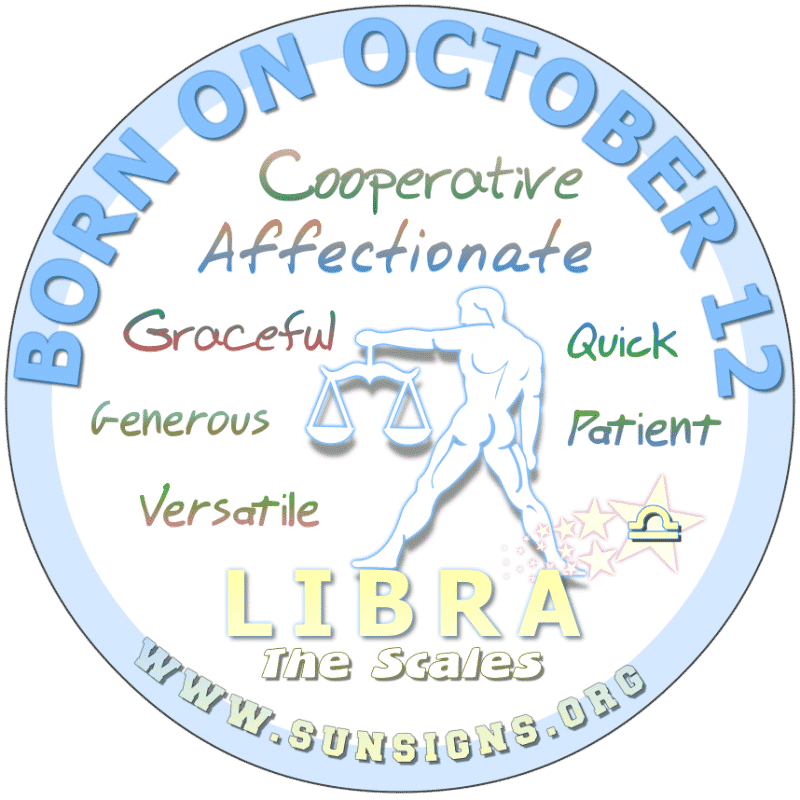 October 12 Birthday Horoscope Personality