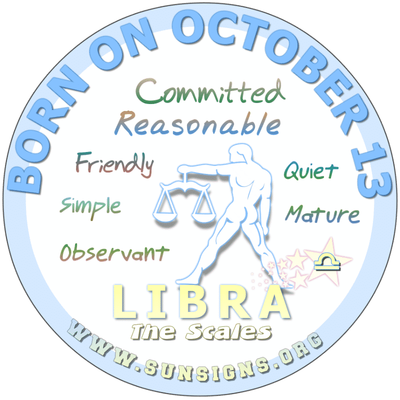 October 13 Birthday Horoscope Personality
