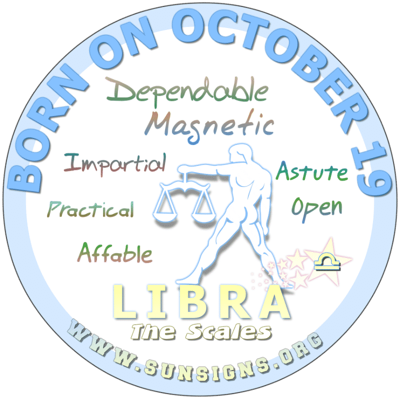 October 19 Birthday Horoscope Personality
