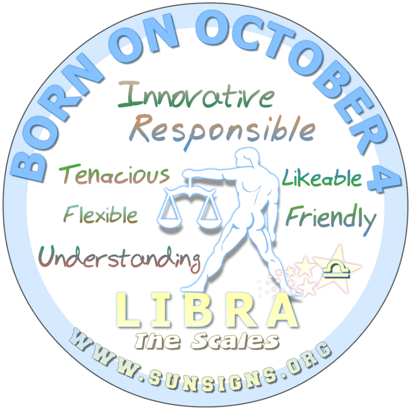 October 4 Birthday Horoscope Personality
