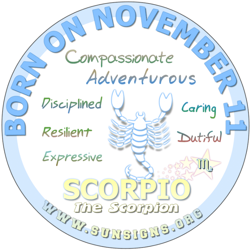 november 11 zodiac sign Scorpio