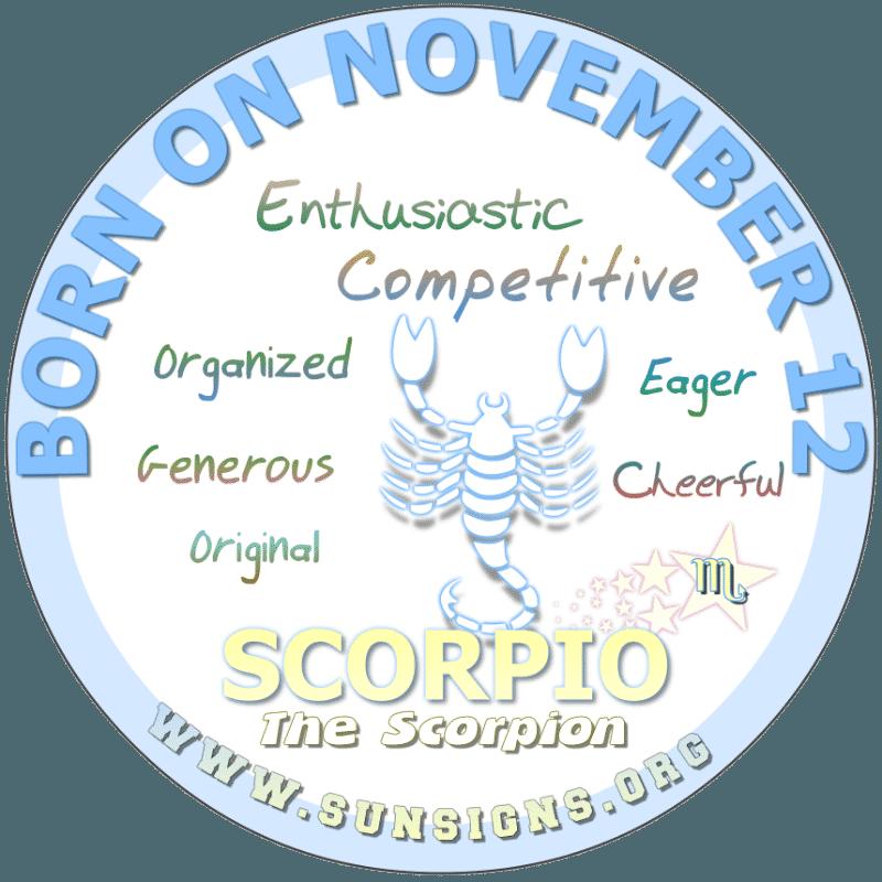 november 12 zodiac sign Scorpio