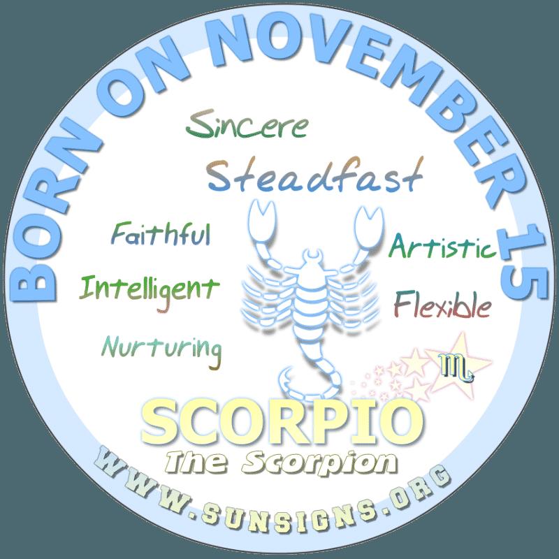 november 15 zodiac sign Scorpio