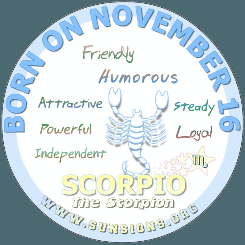 november 16 zodiac sign Scorpio